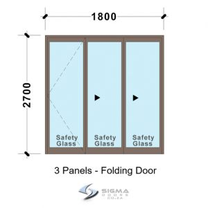 SFD1827_3-Panel-Aluminium-Vistafold-Folding-Door-Patio-door-Sigmadoors Front doors Aluminium double doors aluminium patio doors aluminium doors for sale french doors for sale aluminium doors cape town johannesburg storm door aluminium glass doors door frame exterior glassdoor door frames, Sliding folding door, patio door, aluminium doors with prices, Vista folding doors, Sigmadoors, Johannesburg, South Africa