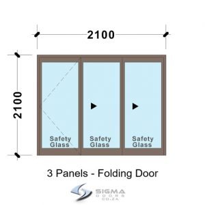 SFD2121_3-Panel-Aluminium-Vistafold-Folding-Door-glassdoors-patio-door-sigmadoors Front doors Aluminium double doors aluminium patio doors aluminium doors for sale Folding Patio Doors french doors for sale aluminium doors cape town johannesburg storm door aluminium glass doors door frame exterior glassdoor door frames, Sliding folding door, patio door, aluminium doors with prices, Vista folding doors, Sigmadoors, Johannesburg, South Africa