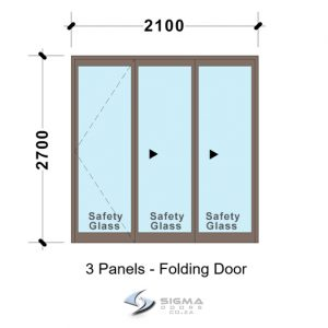 SFD2127_3-Panel-Aluminium-Vistafold-Folding-Door Patio-door-Sigmadoors Front doors Aluminium double doors aluminium patio doors aluminium doors for sale french doors for sale aluminium doors cape town johannesburg storm door aluminium glass doors door frame exterior glassdoor door frames
