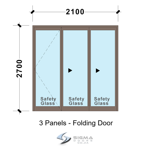 SFD2127_3-Panel-Aluminium-Vistafold-Folding-Door?Patio-door-Sigmadoors