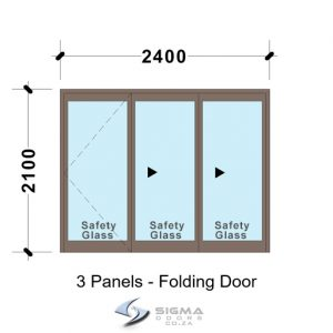 SFD2421_3-Panel-Aluminium-Vistafold-Folding-Door-patio-doors Folding Patio Door Front doors Aluminium double doors aluminium patio doors aluminium doors for sale french doors for sale aluminium doors cape town johannesburg storm door aluminium glass doors door frame exterior glassdoor door frames