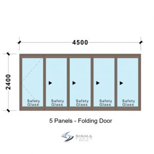 Sliding folding door, Aluminium Bifold door SFD4524_5-Panel-Aluminium-Vistafold-Folding-Door-glassdoors-Sigmadoors Front doors Aluminium double doors aluminium patio doors aluminium doors for sale french doors for sale aluminium doors cape town johannesburg storm door aluminium glass doors door frame exterior glassdoor door frames, Sigmadoors, Johannesburg, South Africa