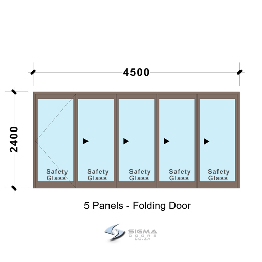 SFD4524_5-Panel-Aluminium-Vistafold-Folding-Door-glassdoors-Sigmadoors