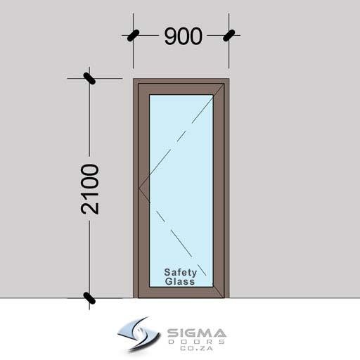 SHD921–Aluminium-Hinged-Door-Sigmadoors