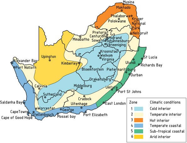 south africa climate zones map, energy efficiency, fenestration sans 10400 xa, sigmadoors, south africa sans 204 building regulations aluminium windows and doors