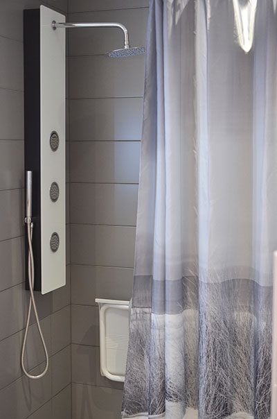 Shower curtain with steamer shower Sigmadoors
