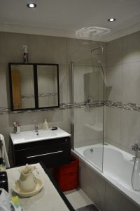 aluminium shower door, shower panel, frameless shower