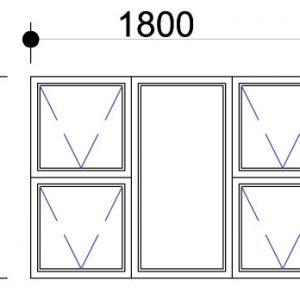Aluminium casement window 28mm, aluminium windows - sigmadoors